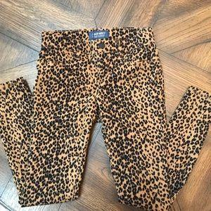 Girls Cheetah Rock Star 🤩 Jeggings sz 10 Reg.